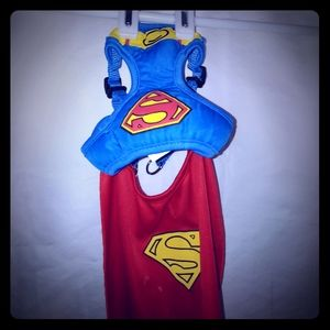 Other - XS Superman Dog harness and Cape